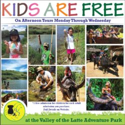 Kids are free, guam, valley of the latte, tours on guam, guam tours, family friendly guam tours, things to do on guam
