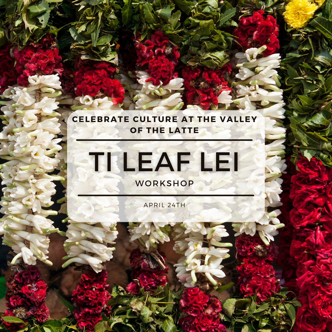 Ti Leaf Lei workshop, things to do in Guam at the valley of the latte