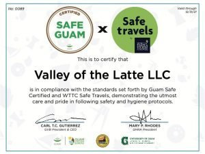 Safe Guam, Guam Safe Certified, Safe Travels, Valley of the Latte, Guam Tours