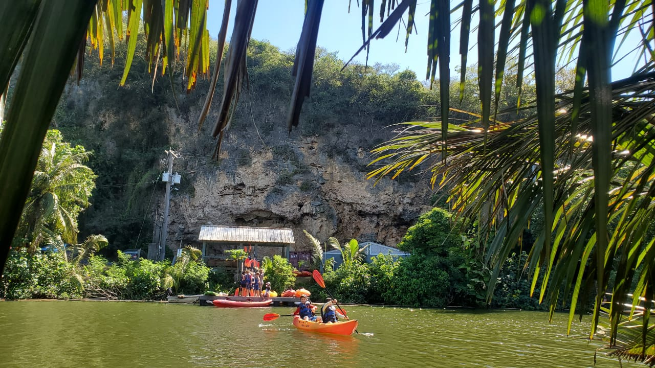 Kayaking at the Valley of the Latte Guam Summer Camp