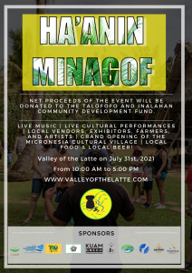 Ha'ANIN Minagof a great cultural celebration at the Valley of the Latte on July 31st, 2021
